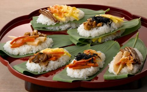 Sasazushi (Sushi wrapped in a bamboo leaf)