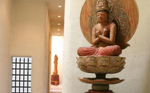 Buddhist Artwork, Traditional Japanese Gardens & Modern Architecture